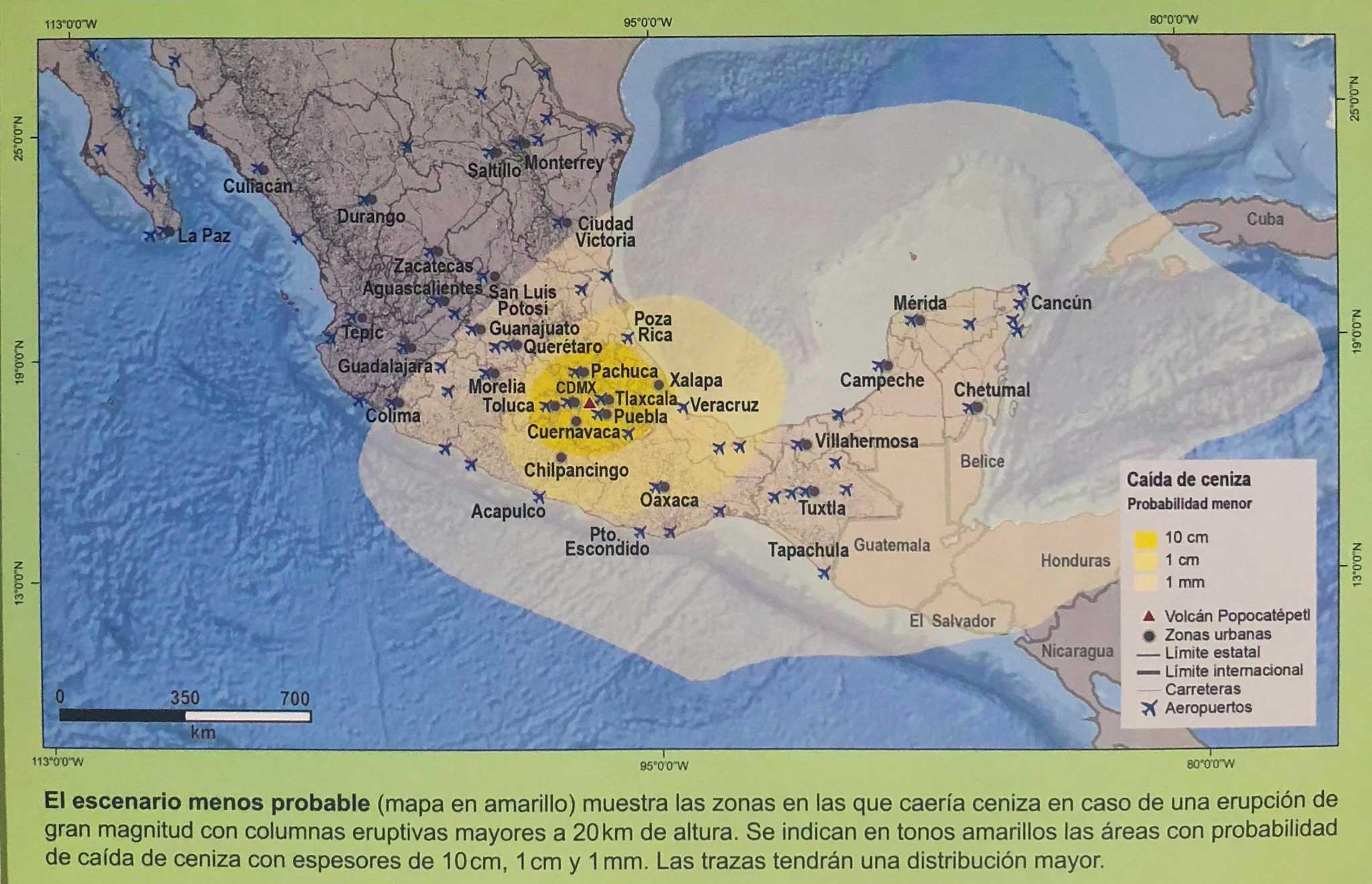 mapa de peligros del volcÁn popocatÉpetl - nepantla mx